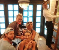 """Jeeves, another sherry please!🍷 Squad Dreams Jules Hough, Derek Hough, Riawna Capri, Spencer Barnesla"" - Primetime Emmy Awards - September 20, 2015 Courtesy: anitapatrickson IG"